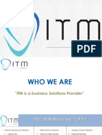 ITM - Sales Strategy