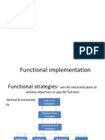 Functional Implementation