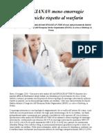 Fibrillazione Atriale I Dati Di Una Nuova Sotto-Analisi Del Trial ENGAGE AF-TIMI 48