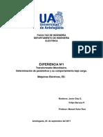 informe n°1 Máquinas Eléctricas.