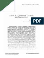 Distinción /s/  /θ/ en castellano peruano