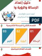 دليل إعداد الخطط الاستراتيجية الرسالةوالرؤية والقيم1439 هـ