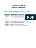Calculus Graphical Numerical Algebraic 3rd Edition Answers