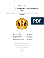 Makalah SPM Ch 14 Organisasi Jasa