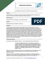 Norma Regulamentadora Da Segurança e Saúde No Trabalho Na Indústria Química