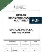 Manual para la Instalaciòn - Cinta Trasportadora Multitela - Rev.4