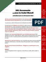 Codul Muncii - 218 Documente Anexe La Codul Muncii