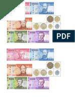 Billete Moneda CHILE