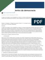 A Corrupção Dentro Da Democracia - Jus.com