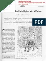 Diversidad Biológica Mexico Toledo 1988