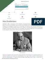 Max Horkheimer Biografia