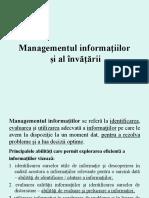 Managementul Informatiilor Si Al Invatarii
