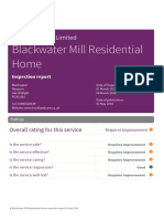 Blackwater Mill Residential Home - CQC Report