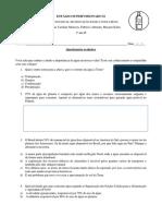 Estágio Supervisionado II - Questionário