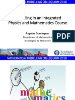Dominguez - Modelling in an Integrated Course