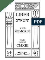 תישארב, Liber Viæ Memoriæ
