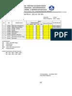 Daftar Nilai KTSP