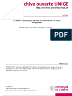 BRONCKART y SCHNEUWLY (1996) La Didáctica de La Lengua Materna
