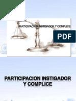 participacion instigador y complice derecho penal