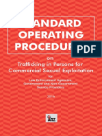 STANDARD OPERATING PROCEDURES for Law Enforcement Agencies, Government and Non-Government Service Providers 2016 on Trafficking in Persons for Commercial Sexual Exploitation