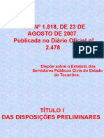 40159711-Lei-1818-Estatuto-Servidor-Publico-Do-Estado-Do-Tocantins.ppt