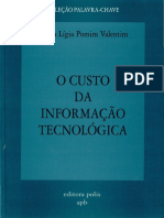 O Custo Da Informacao Tecnologica - marta lígia pomim valentim