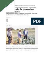 Proyectos Ambientales en Provincia de Bs As
