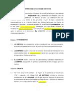 Contrato de Locación de Servicios (Recolector)