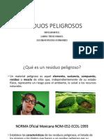 CLASIFICACIÓN CRETIB Y ONU DE MANEJO DE RESIDUOS PELIGROSOS