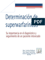 Determinacion de Superwarfarinicos