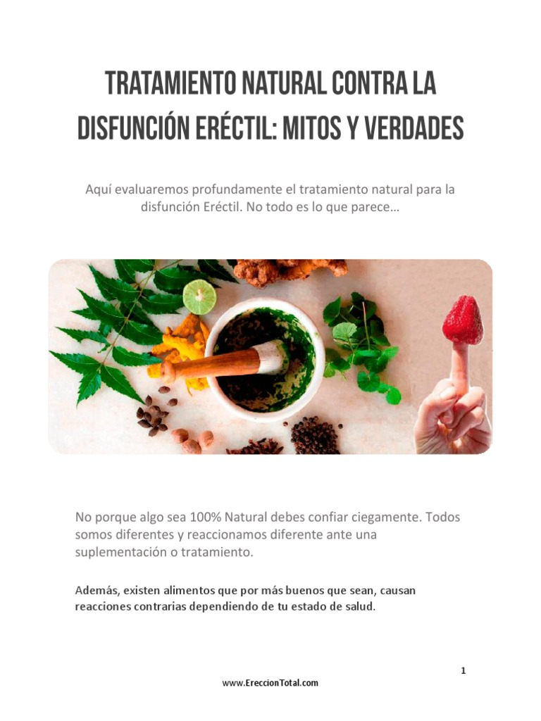 tratamiento natural contra la disfuncion erectil