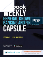 Weekly General Knowledge Banking & Finance Capsule - 13th to 19th May 2018