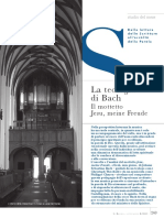 La Teologia Di Bach Nel Corale Jesu Mein Freude (Gesù Mia Gioia BWV 147)