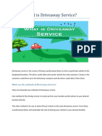 What is Driveaway Service
