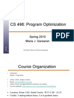 CS 498 - Program Optimization