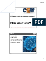 Lecture 1 -- Introduction to CEM