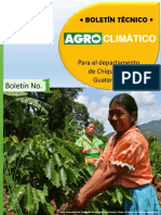 Boletín Agroclimático Chiquimula No. 1
