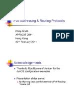 APRICOT2011 IPv6 Routing Tutorial