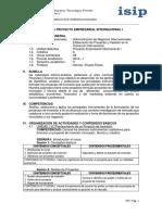 Silabo de Proyecto Empresarial Internacional i