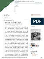 Historia Del Perú_ Segundo Gobierno de Oscar Benavides_ Contexto y Obras