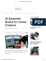 45 Essential Books for Comic Creators - Jason Thibault