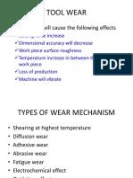 Tool Wear and Cutting Fluid Lathe