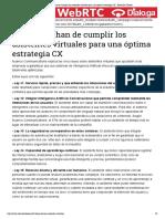 5 leyes que han de cumplir los asistentes virtuales para una óptima estrategia CX - Relación Cliente