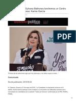 22/05/2018 Con el apoyo de Sylvana Beltrones tendremos un Centro contra las Adicciones Karina García