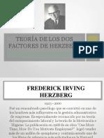 Teoria de Los Dos Factoresdeherzberg