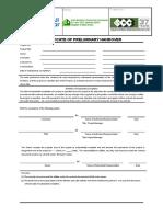 PD.sf026.R1 Certificate of Preliminary Handover