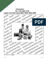 Fluidyne Flowmeter Mag1100 Mag3100 Spec D499