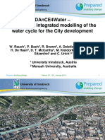 DAnCE4Water - Concept for Integrated Modelling of the Water Cycle for the City Development Wolfgang Rauch, University of Innsbruck