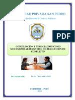 CONCILIACIÓN Y NEGOCIACION COMO MECANISMO ALTERNATIVO DE RESOLUCION DE CONFLICTO