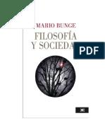 Bunge Mario - Filosofia Y Sociedad